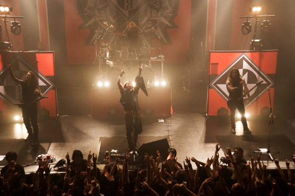 Machine Head onstage in Tokyo.
