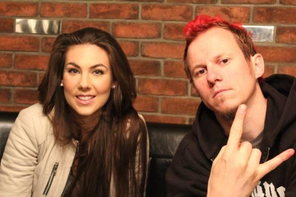 Elize Ryd and Jake of Amaranthe Photo: Stefan Nilsson