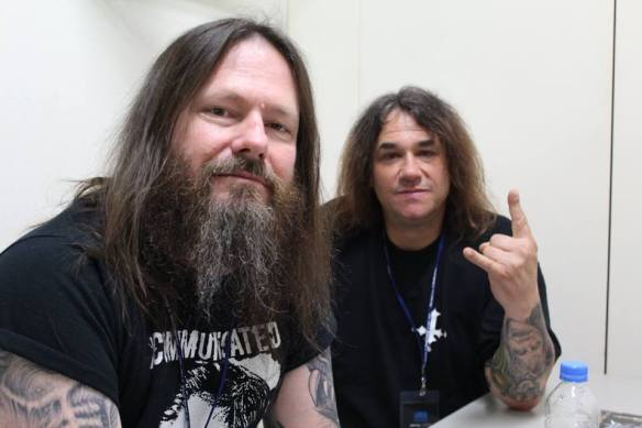 "Gary Holt and Steve ""Zetro"" Souza of Exodus. Photo: Stefan Nilsson"
