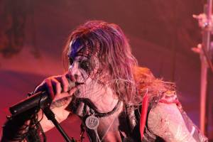 Erik Danielsson of Watain on stage in Tokyo. Photo: Stefan Nilsson