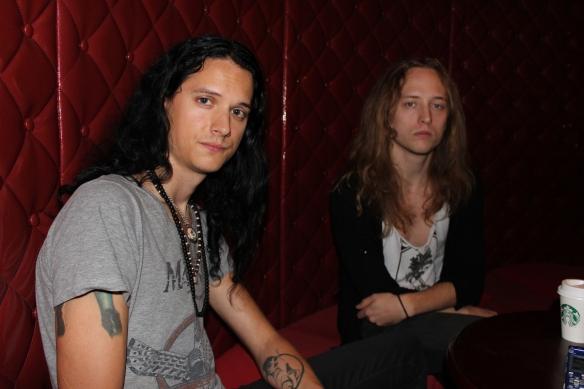 Tribulation's guitarists Adam Zaars and Jonathan Hultén in Tokyo. Photo: Stefan Nilsson