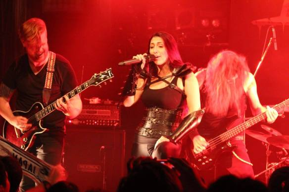 Unleash The Archers onstage in Tokyo, Aug 2015. Photo: Stefan Nilsson