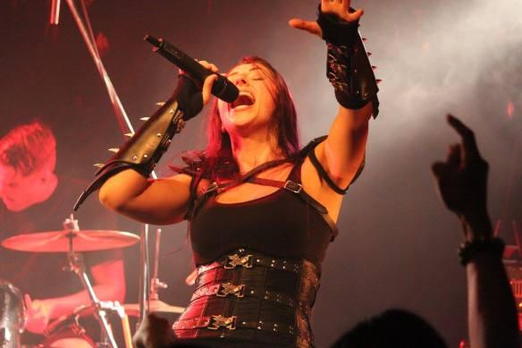Brittney Slayes onstage in Tokyo, Aug 2015. Photo: Stefan Nilsson