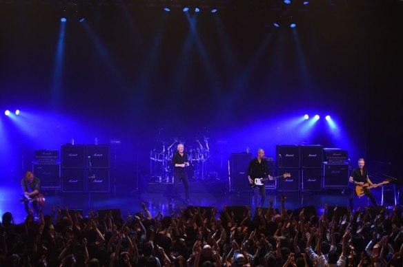 Thunder - onstage in Tokyo. Photo: Mikio Ariga