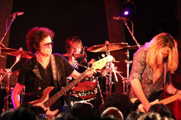 Glenn Hughes, Pontus Engborg and Doug Aldrich. Photo: Stefan Nilsson