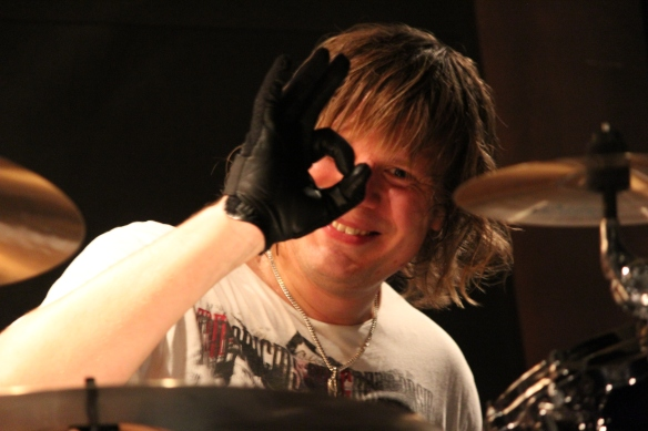 Pontus Engborg during sound check in Tokyo. Photo: Stefan Nilsson
