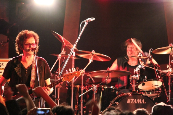 Glenn Hughes and Pontus Engborg onstage in Tokyo. Photo: Stefan Nilsson