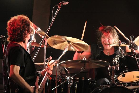 Glenn Hughes and Pontus Engborg onstage in Tokyo. Photo: Stefan Nilsson