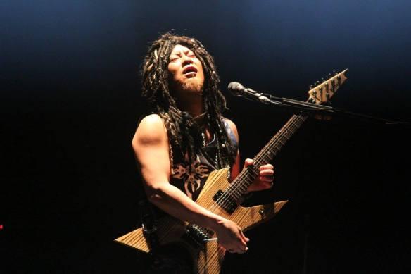 Akira Takasaki of Loudness onstage in Roppongi. Photo: Stefan Nilsson