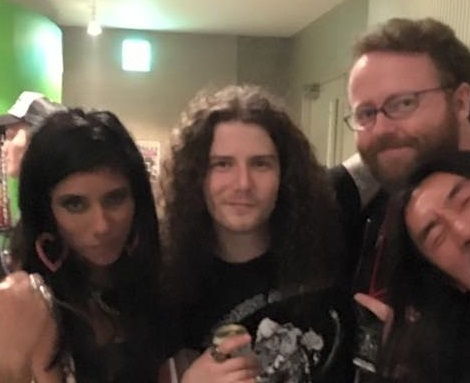 Diemonds' Priya Panda and Daniel Dekay with Stefan Nilsson in Tokyo.