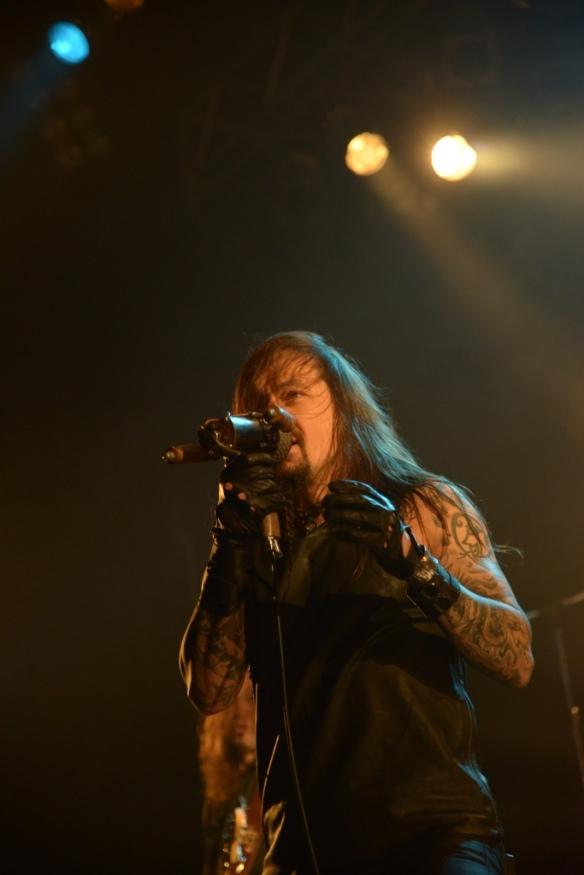 Tomi Joutsen of Amorphis onstage in Tokyo. Photo: Masayuki Noda