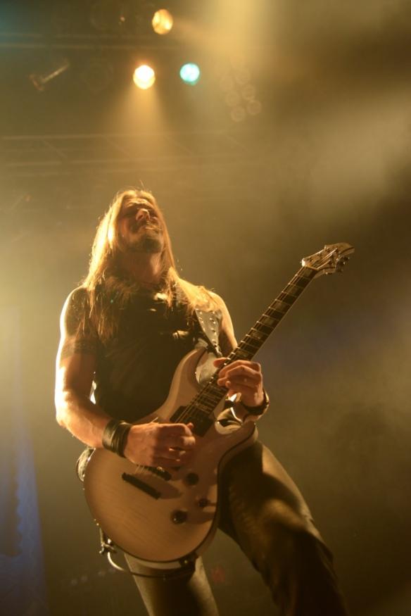 Esa Holopainen of Amorphis onstage in Tokyo. Photo: Masayuki Noda