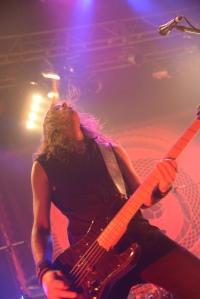 Niclas Etelävuori of Amorphis onstage in Tokyo. Photo: Masayuki Noda