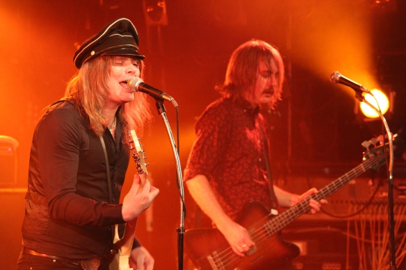 Nicke Andersson and Dolf de Borst onstage in Tokyo. Photo: Stefan Nilsson