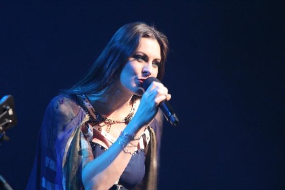 Floor Jansen of Nightwish onstage in Tokyo. Photo: Stefan Nilsson