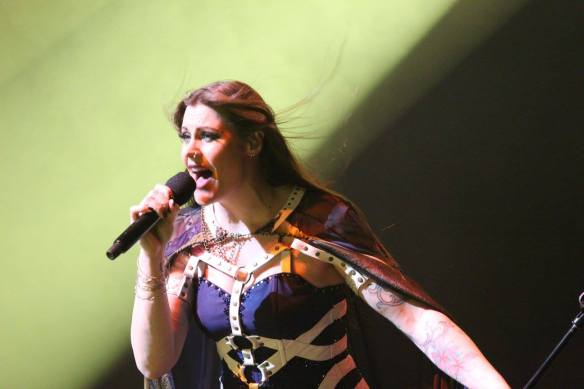 Floor Jansen of Nightwish onstage in Tokyo. Photo: Stefan Nilsson