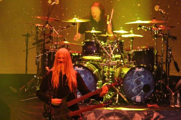 Marco Hietala and Kai Hahto of Nightwish onstage in Tokyo. Photo: Stefan Nilsson