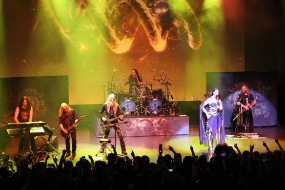 Nightwish onstage in Tokyo. Photo: Stefan Nilsson
