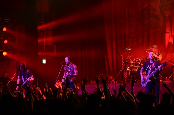 Trivium onstage in Tokyo. Photo: Teppei