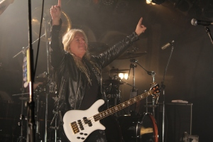 Mat Sinner of Primal Fear on stage in Tokyo. Photo: Stefan Nilsson