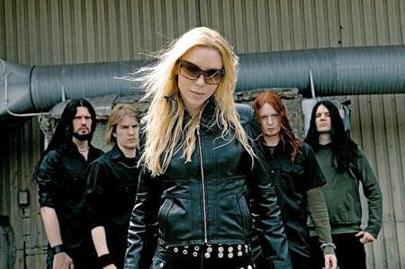 Angela Gossow with Arch Enemy
