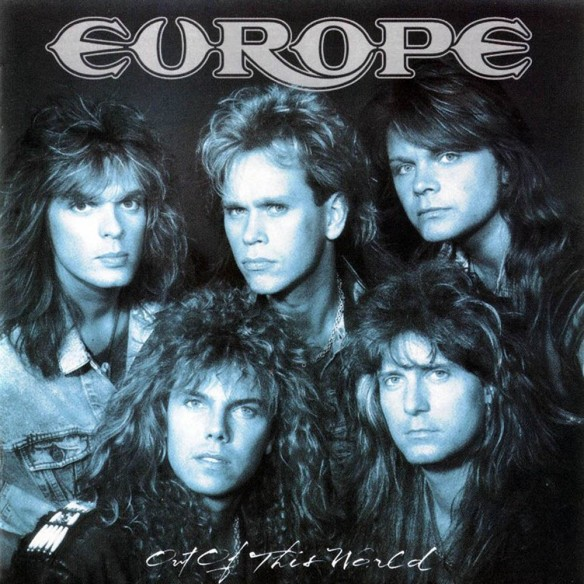 Kee Marcello (bottom right corner) with Europe.