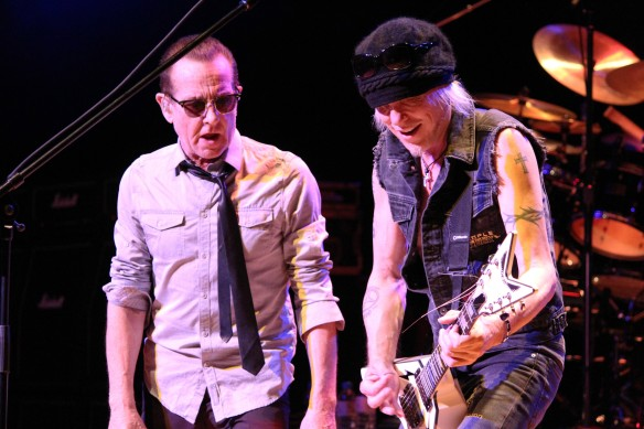 Graham Bonnet and Michael Schenker on stage in Tokyo. Photo: Stefan Nilsson