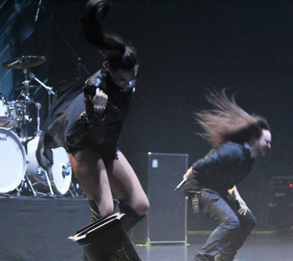 Amaranthe on stage in Roppongi. Photo: Stefan Nilsson
