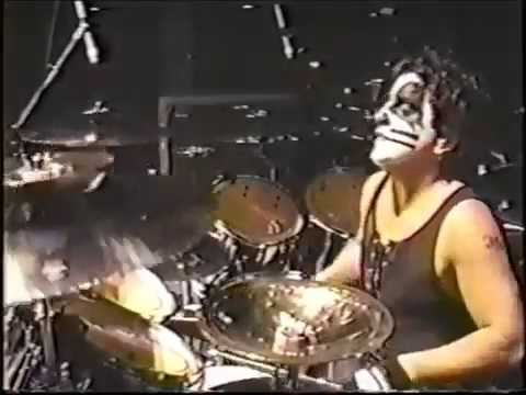 Ed Kanon on stage with KISS in 1997.