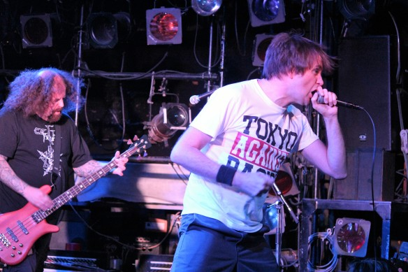Napalm Death on stage in Tokyo, 5th September 2016. Photo: Stefan Nilsson