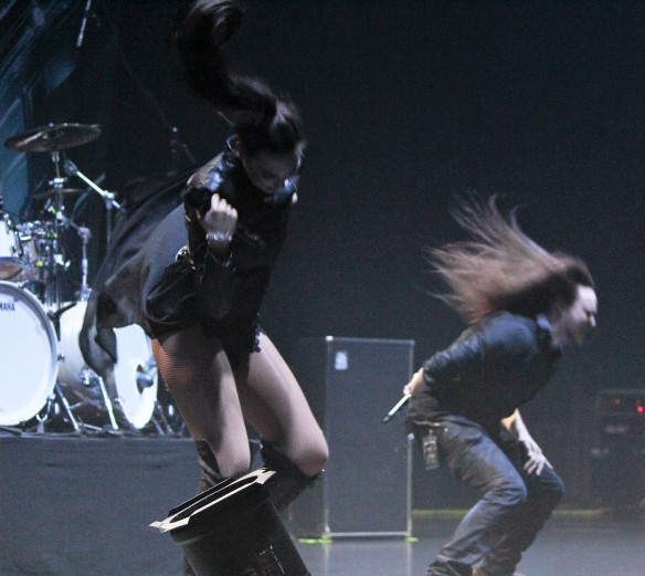 Amaranthe on stage in Tokyo. Photo: Stefan Nilsson
