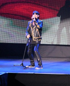 Klaus Meine on stage at Loud Park with Scorpions. Photo: Stefan Nilsson