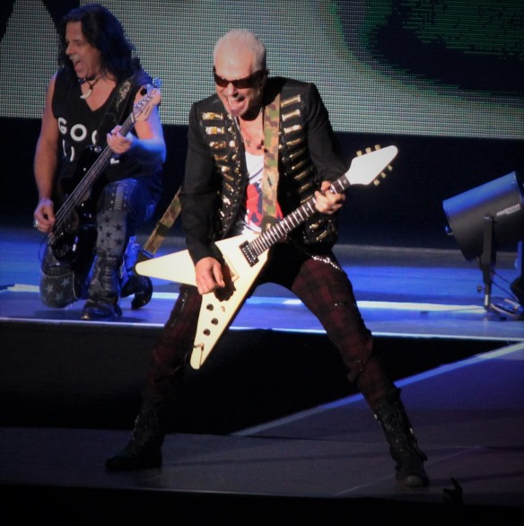Rudy Schenker on stage at Loud Park with Scorpions. Photo: Stefan Nilsson