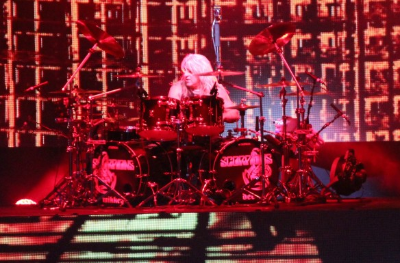 Mikkey Dee on stage at Loud Park with Scorpions. Photo: Stefan Nilsson