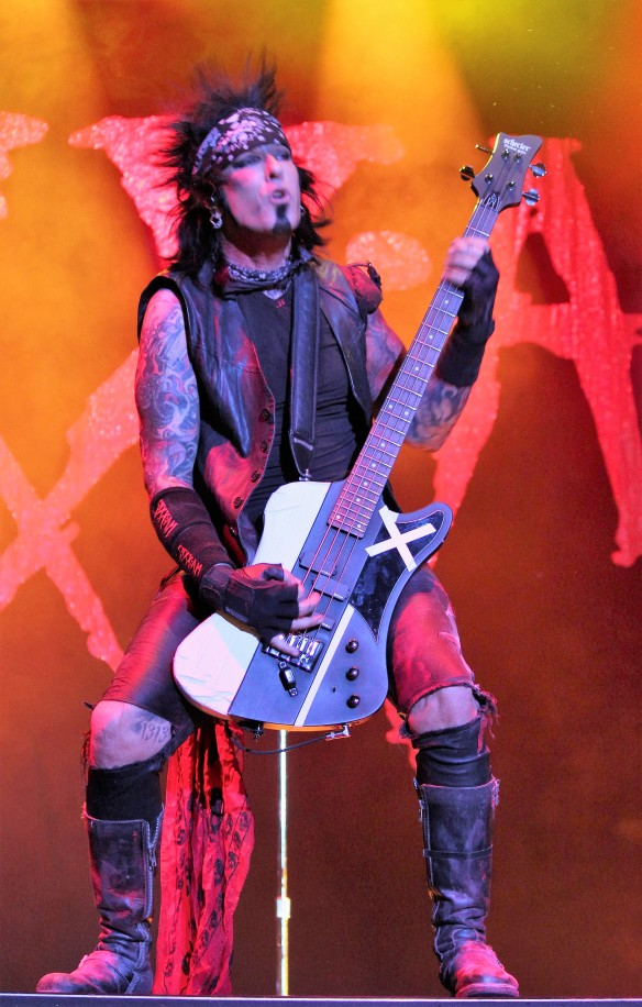 Nikki Sixx on stage at Loud Park. Photo: Stefan Nilsson