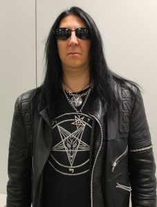 Lord Ahriman of Dark Funeral backstage at Loud Park. Photo: Stefan Nilsson