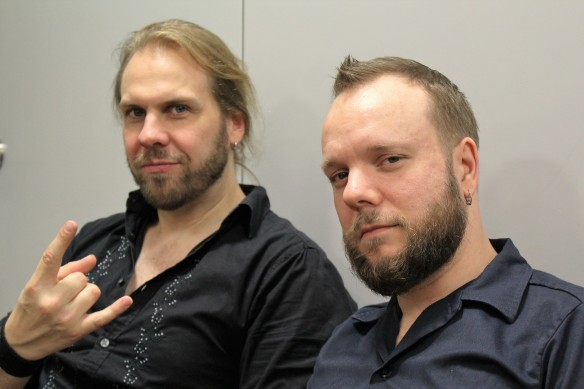 Santeri Kallio and Jan Rechberger of Amorphis backstage at Loud Park. Photo: Stefan Nilsson