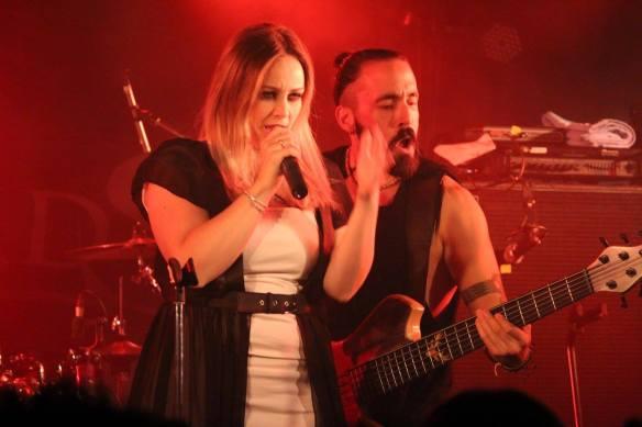 Sara Squadrani and Martino Garattoni of Ancient Bards on stage at Japanese Assault Fest. Photo: Stefan Nilsson