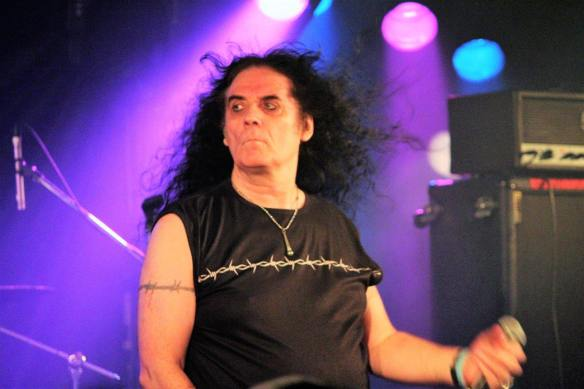 Brian Ross of Blitzkrieg on stage at Japanese Assault Fest. Photo: Stefan Nilsson