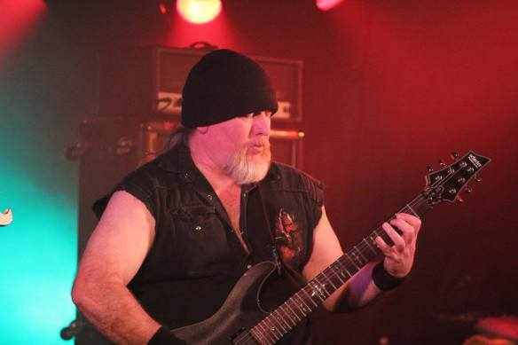 Ken Johnson of Blitzkrieg on stage at Japanese Assault Fest. Photo: Stefan Nilsson