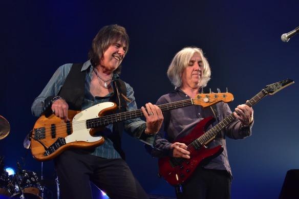 Gary Shea and John Fannon of New England on stage at Club Citta. Photo: Yuki Kuroyanagi