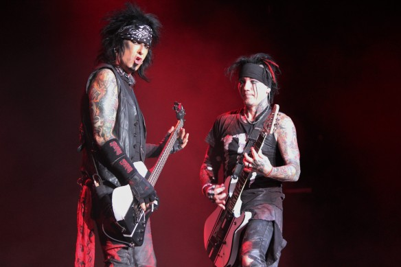 Nikki Sixx and DJ Ashba of Sixx:A.M. on stage in Japan in Oct 2016. Photo: Stefan Nilsson