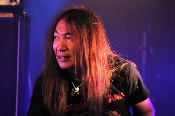 Akira Sugiuchi of Solitude on stage at Japanese Assault Fest. Photo: Stefan Nilsson
