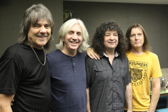 New England: Gary Shea, John Fannon, Hirsh Gardner, Jimmy Waldo. Kawasaki, Japan, Nov 2016. Photo: Stefan Nilsson