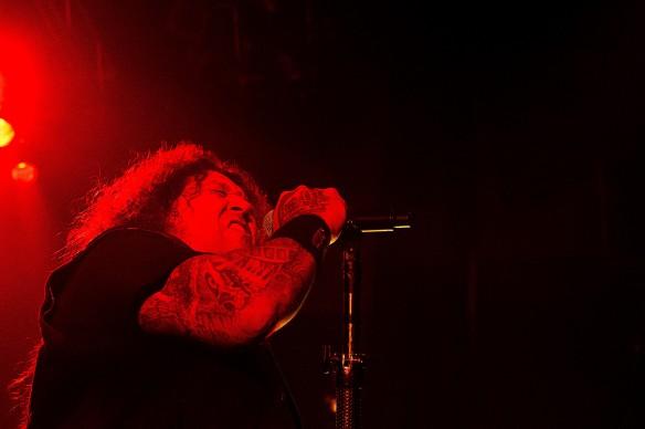 Chuck Billy of Testament on stage in Tokyo | Photo: Mikio Ariga